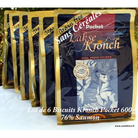 Biscuit Kronch Pocket 76% de saumon frais - lot de 6