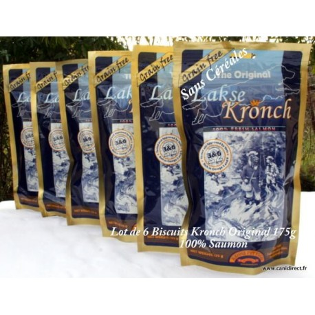 Biscuit Kronch Original 100% de saumon frais - 175g - lot de 6